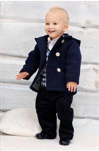 Costum botez baieti toamna iarna Granat   74 cm (6-10 luni)