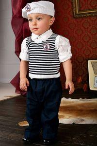 Costum ocazie baieti albastru cu vesta 4 piese   62 cm (2-4 luni)