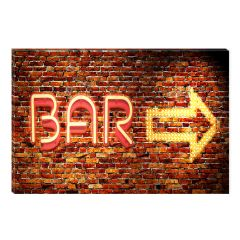 Tablou DualView Startonight Bar, luminos in intuneric, 60 x 90 cm