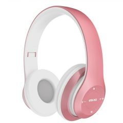 Casti Bluetooth Soundvox™ P-15 cu microfon, Over The Ear, Radio FM, Roz