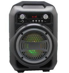 Boxa Activa Portabila Bluetooth, Soundvox BS-12, USB, TF/SD Card, Aux, Radio FM, Lumini, Neagra