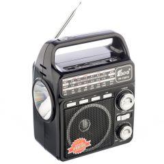 Radio Portabil cu Lanterna Fepe FP-1361U, MP3 player, USB, SD / TF CARD, Acumulator, Negru