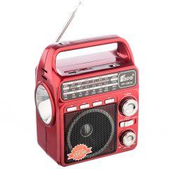 Radio Portabil cu Lanterna Fepe FP-1361U, MP3 player, USB, SD / TF CARD, Acumulator, Rosu