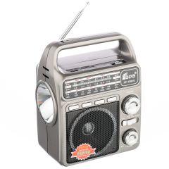 Radio Portabil cu Lanterna Fepe FP-1361U, MP3 player, USB, SD / TF CARD, Acumulator, Argintiu