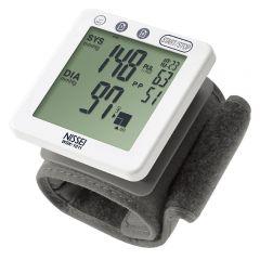 Tensiometru electronic de incheietura Nissei WSK 1011, Afisaj LCD, Memorare 60 de valori, Clasificare OMS, Detectarea Aritmiei, Alb