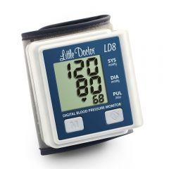 Tensiometru electronic de incheietura Little Doctor LD 8, Afisaj LCD, Memorare 90 de valori, Algoritm Fuzzy, Cutie de depozitare