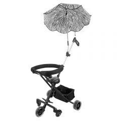 Carucior de copii cu 5 roti si umbrela