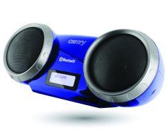 Aparat Radio FM cu afisaj, Bluetooth, USB / MP3, AUX, RMS 5W, culoare Albastru