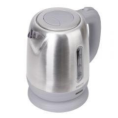 Ceainic Electric din Otel Inoxidabil Camry, Capacitate 1.2L, Putere 1630W, Filtru Anticalcar, Culoare Gri Metalizat