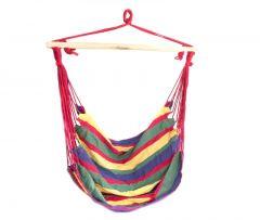 Hamac tip scaun 120 kg culoare Rosu si Verde