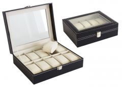 Cutie Caseta Eleganta pentru 10 Ceasuri , Bijuterii sau Bratari