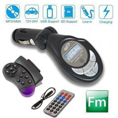 Modulator FM MP3 Player Auto cu Telecomanda cu Fixare pe Volan si Normala, LCD, USB, AUX IN, Card SD