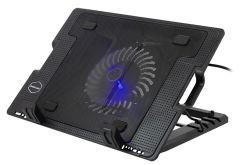 Stand Cooler Multifunctional Pliabil pentru Laptop cu Unghi Reglabil, Iluminat, Conectare USB