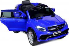 Masinuta Electrica Mercedes AMG pentru Copii cu Lumini LED, Volan, Telecomanda, Player Muzica cu Radio FM, USB si Card SD, Culoare Albastru