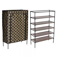 Dulap raft textil Emma pentru depozitare incaltaminte, imbracaminte sau accesorii, 5 nivele