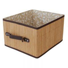 Cutie din bambus pentru organizare si depozitare universala, dimensiuni 19x28x32 cm