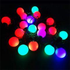 Instalatie pentru Craciun Multicolora RGB cu 19 LED-uri Tip Globulete, Lungime 4.2m, Schimbare Automata a Culorilor
