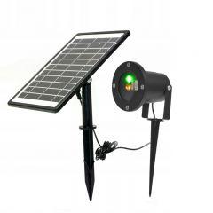 Proiector Laser LED Tip Star Shower 3D Metal Interior/Exterior, Efecte de Lumini Miscatoare si Incarcare Solara
