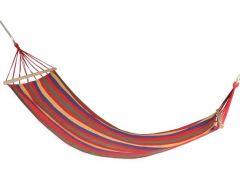 Hamac Rosu pentru 1 persoana, ideal pentru relaxare in gradina sau curte, dimensiuni 195x85cm, capacitate 150kg