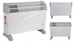 Aeroterma Radiator Electric cu Functie Turbo si 3 Trepte de Incalzire, Termostat Reglabil, Putere 2000W, Culoare Alb
