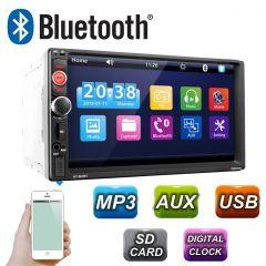 MP3 Player Universal 2DIN Auto cu Radio FM, Touchscreen Display 7 inch, Telecomanda, Bluetooth, USB, MicroSD, Putere 4x45W, Vordon