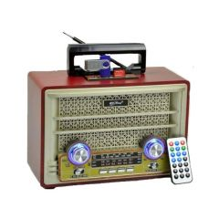 Radio MP3 player Retro cu telecomanda, Bluetooth, USB, AUX, SD, Model 2