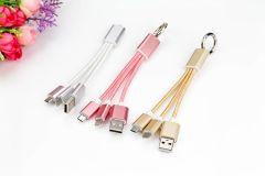 Cablu Date USB Portabil tip Breloc, Incarcare rapida, iPhone si Android