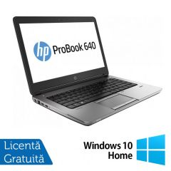 Laptop Reconditionat HP ProBook 640 G1 Intel Core i5-4200M 2.50GHz up to 3.10GHz 8GB DDR3 120GB SSD DVD-RW 14 inch + Windows 10 Home