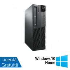 Calculator Reconditionat Lenovo ThinkCentre M92p SFF, Intel Core i3-3220 3.30GHz, 4GB DDR3, 320GB SATA, DVD-RW + Windows 10 Home