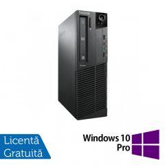 Calculator Reconditionat Lenovo ThinkCentre M92p SFF, Intel Core i3-3220 3.30GHz, 4GB DDR3, 320GB SATA, DVD-RW + Windows 10 Pro