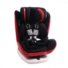 Scaun auto rotativ cu Isofix 0- 36 kg Pilot Leather Red/Black