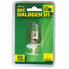 Bec auto cu halogen pentru far H1 RoGroup 12V 55W P14.5s 1 buc