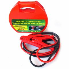 Cabluri pornire auto RoGroup cu LED integrat 400A