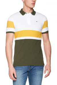Tricou tommy jeans block thyme multi - l