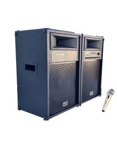 Boxe profesionale Vlliodor NRS, putere 720W max . , bluetooth , Usb , SD card  , Radio FM