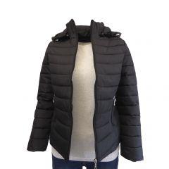 Geaca matlasata cu gluga dama, Univers Fashion - negru - XL