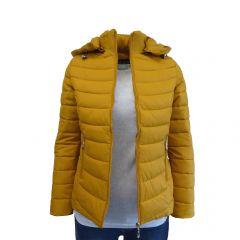 Geaca matlasata cu gluga dama, Univers Fashion - galben mustar - XL
