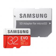 Card de memorie Samsung EvoPlus Micro SD Ultra, 32GB, 80Mb/s, Class 10, Full HD + Adaptor