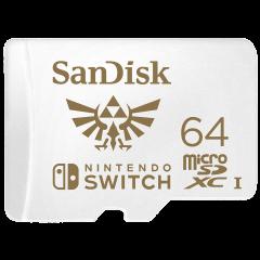 Card de memorie SanDisk microSDXC, 64GB, Nintendo Switch, UHS-I, Class 10