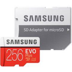 Card de memorie Samsung Micro-SDHC EVO Plus 256GB, Class 10, U3 cu adaptor SD, R100MB/s, W90MB/s, 4K