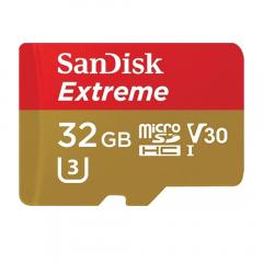 Card de memorie SanDisk Extreme MicroSDHC, 32GB, UHS-I U3, Class 10 + Adaptor