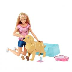 Set Mattel Barbie Papusa Catelusii Nou Nascuti, accesorii incluse
