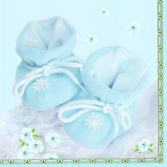 Servetele botez imprimate, Bleu