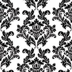 Servetele imprimate, Alb / Negru, 20 bu