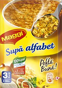 Supa alfabet instant, cu paste si legume Maggi 58g