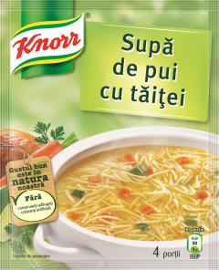 Supa instant de pui cu taitei Knorr 59g