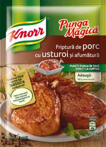 Friptura de porc cu usturoi si afumatura Knorr Punga Magica 29g