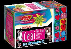 Ceai mai drag pentru copii cu fragute si vitamina C Fares 40g