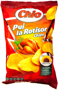 Chips cu aroma de pui la rotisor Chio 65g
