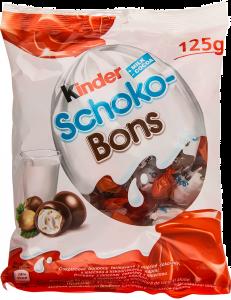 Bomboane de ciocolata cu umplutura de lapte si alune Kinder Schoko-Bons 125g